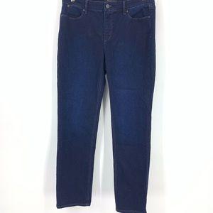 Talbots jeans flawless five fit straight curvy 8